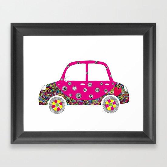 Colorful car Framed Art Print