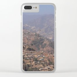 Mountains in Sindhupalchok Nepal Clear iPhone Case