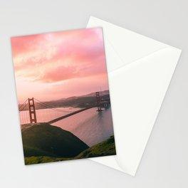 Sherbert Skies over the Golden Gate Bridge from Slackerhill Stationery Cards