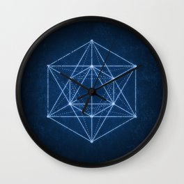 Sacred geometry / Minimal Hipster Symbol Art Wall Clock