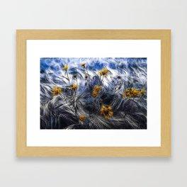 against the wind Framed Art Print