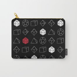 Black Dungeons and Dragons Dice Set Pattern Carry-All Pouch