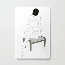 Male Nude Sketch 08 Metal Print