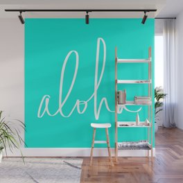 Aloha Tropical Turquoise Wall Mural