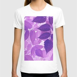 Ultra Violet Purple Leaves T-shirt
