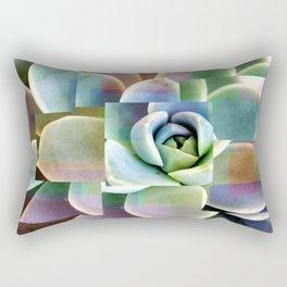 Succulents collage Rectangular Pillow