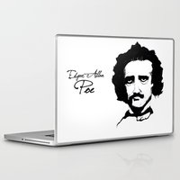 edgar allan poe Laptop & iPad Skins featuring Edgar Allan Poe  by SINPE