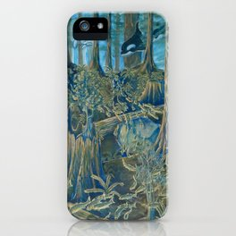 Forest Salmon Run  iPhone Case