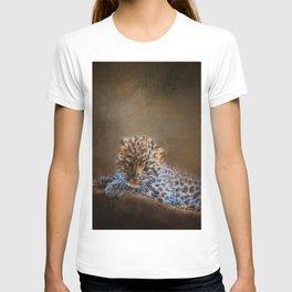 Cute painting amur leopard cub T-shirt