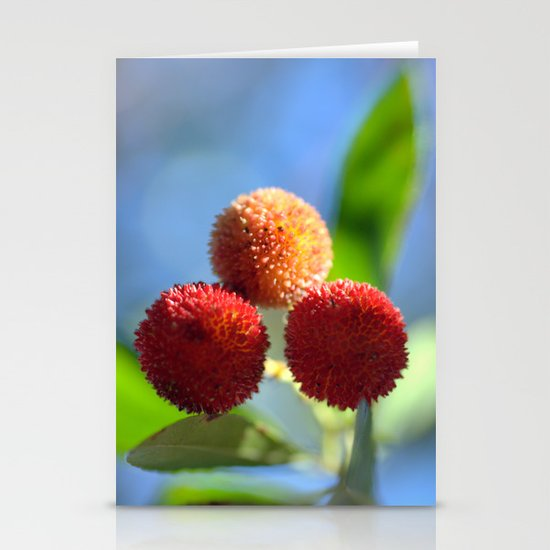 Strawberry tree fruits 8697b Stationery Cards