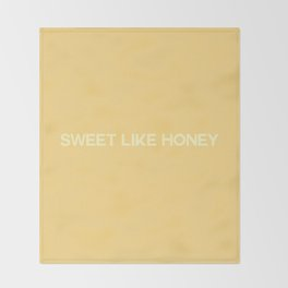 sweet like honey Throw Blanket