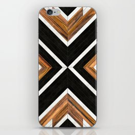 Urban Tribal Pattern No.1 - Concrete and Wood iPhone Skin