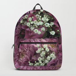 Purple & Pink Bouquet Backpack