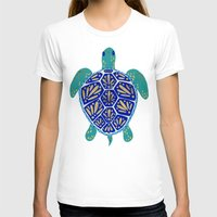sea T-shirts featuring Sea Turtle by Cat Coquillette