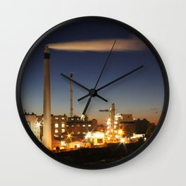 Industry at Night Wall Clock