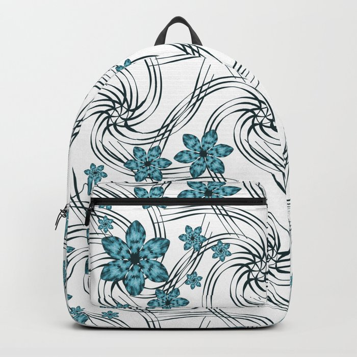 Floral pattern. Backpack