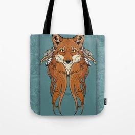 Tribal Fox Tote Bag