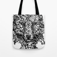 hunter x hunter Tote Bags featuring Hunter by René Campbell