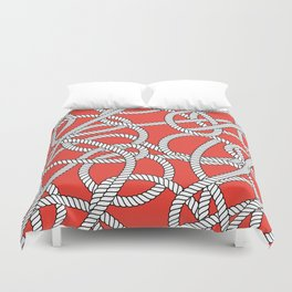 Red Rope Pattern Duvet Cover
