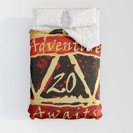 D20 Adventure Awaits Watercolor Way of Blood Comforters