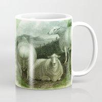 ass Mugs featuring Sheep's Ass by Connie Goldman