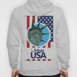 Vintage USA Travel poster Hoody