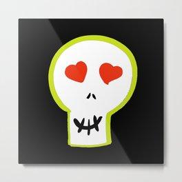 Big Happy Skull Metal Print