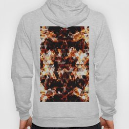 Electrifying orange sparkly triangle fire flames Hoody