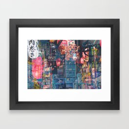 Tokyo city of lights Framed Art Print