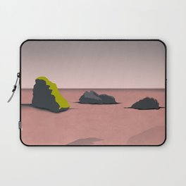 Sea Landscape Wallpaper with Rocks Laptop Sleeve