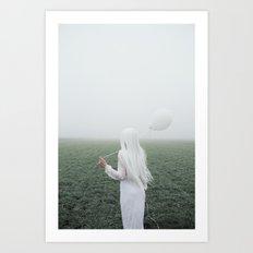 White girl Art Print