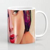 pin up Mugs featuring Pin Up by Joe Ganech