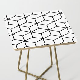 Black and White - Geometric Cube Design I Side Table