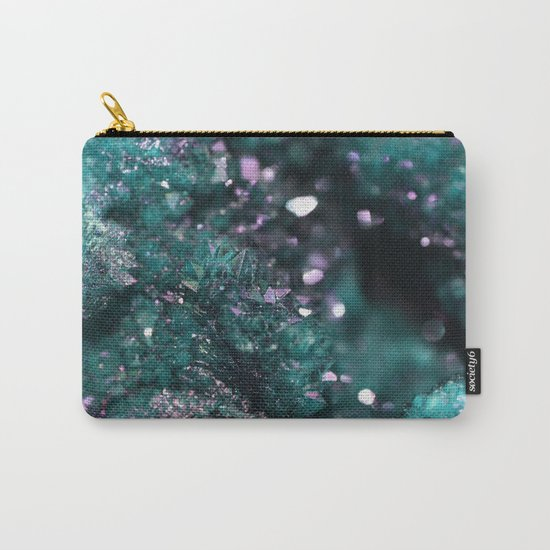 Geode Abstract Aqua Fascination Carry-All Pouch