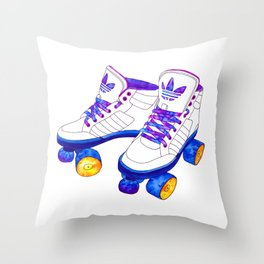 Roller Derby skaters Throw Pillow