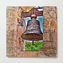 The Bell Tower Antique Stone Arches Metal Print