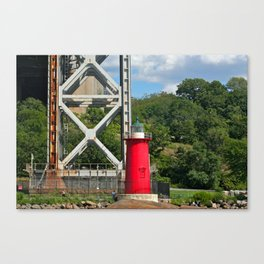 George Washington Bridge Lighthouse Canvas Print