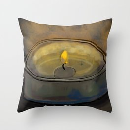 Tea Light Throw Pillow