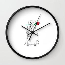 Otterly Romantic Wall Clock