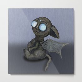 Cute dragon creature Metal Print