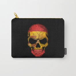 Dark Skull with Flag of Spain Carry-All Pouch
