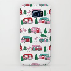Camper vacation christmas road trip tropical home away from home pattern Galaxy S8 Slim Case