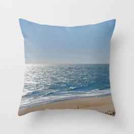Ocean Solitude, Atlantic Ocean, Morning Beach, Throw Pillow