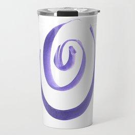 Purple circles Travel Mug