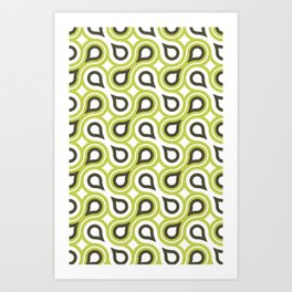 Geometric Retro Art Print