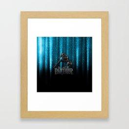 BP on blue Framed Art Print
