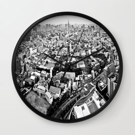 tokyo city view Wall Clock
