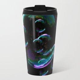 IRIDESCENT SOAP BUBBLES  BLACK COLOR Travel Mug