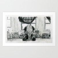 inner demons Art Prints featuring Inner Demons by Art & Ink