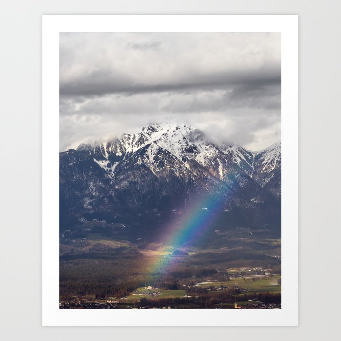 Rainbow and mountains after the storm print by Patrik Lovrin Photography